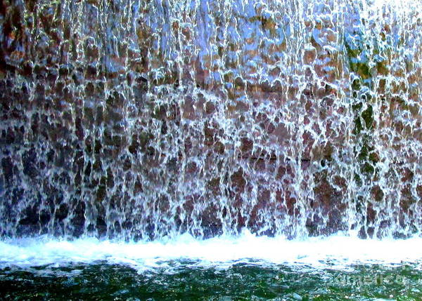 Spillway Photograph - Waterfall by Randall Weidner
