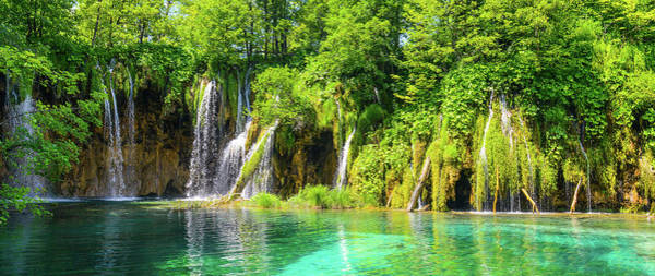 Photograph - Waterfalls At Plitvice National Park In Croatia by Brandon Bourdages