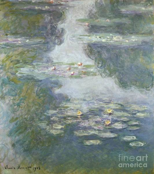 Monet Painting - Waterlilies by Claude Monet