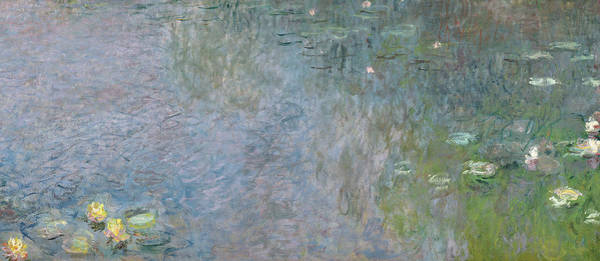 Plant Reproduction Painting - Waterlilies Morning by Claude Monet