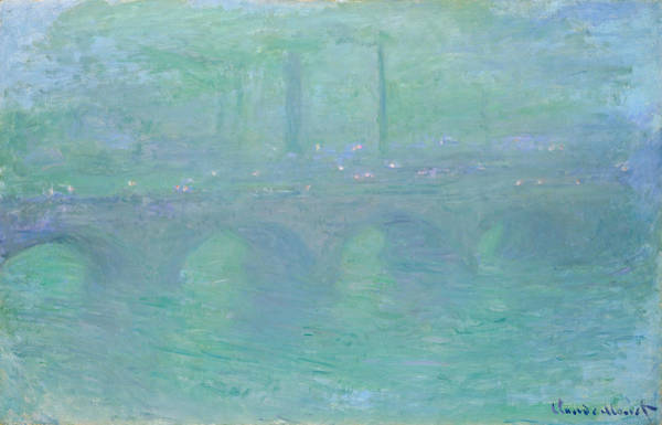Painting - Waterloo Bridge At Dusk by Claude Monet