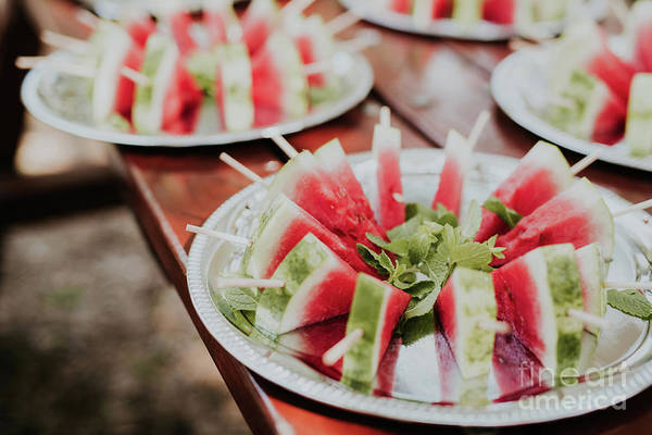 Wall Art - Photograph - Watermelon Slice Popsicles by Viktor Pravdica