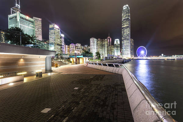 Photograph - Waterront Promenade Along The Victoria Harbour In Hong Kong  by Didier Marti