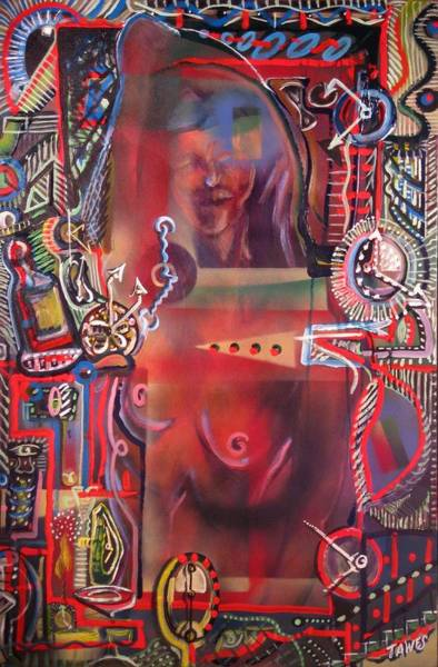 Painting - We Are One In Time And Rented Space by Dennis Tawes