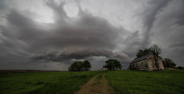 Shelf Cloud Photograph - Weathered  by Aaron J Groen