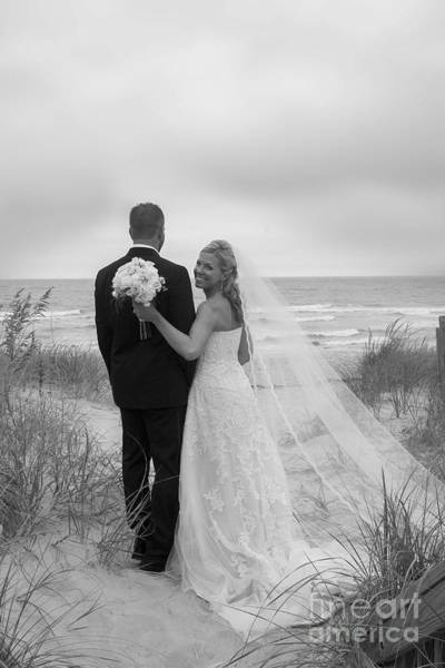 Photograph - Wedding Pictures On Beach With Happy Couple by Dan Friend