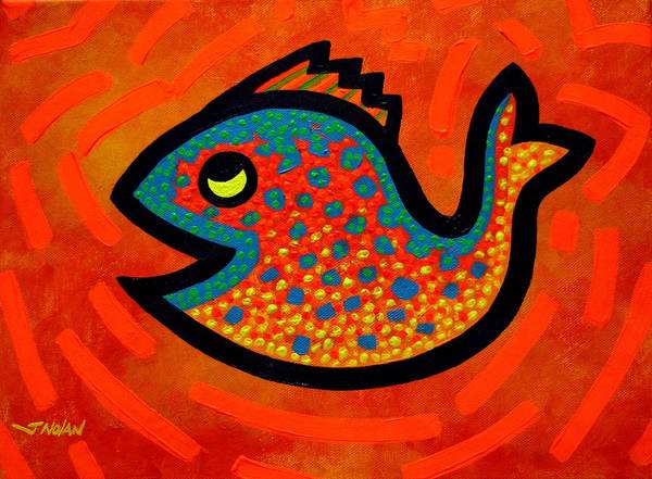 Wall Art - Painting - Weekend Fish by John  Nolan