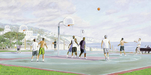 Basketball Painting - Weekend Warriors by Steve Simon