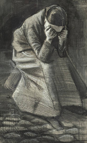 Tear Drawing - Weeping Woman by Vincent Van Gogh