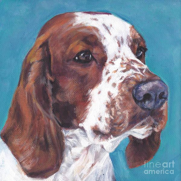 Welsh Springer Spaniel Painting - Welsh Springer Spaniel by Lee Ann Shepard
