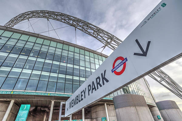 Wall Art - Photograph - Wembley Stadium Architecture London by David Pyatt