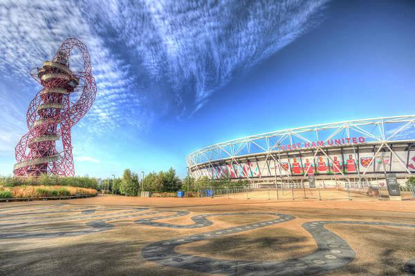 Olympic Club Photograph - West Ham Fc Stadium And The Arcelormittal Orbit  by David Pyatt
