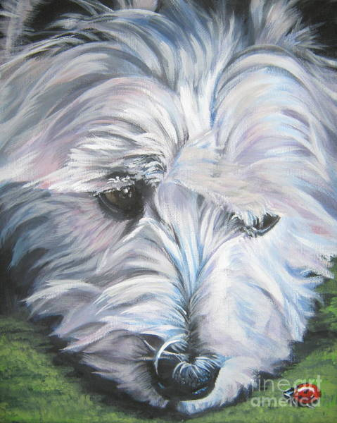 West Highland Painting - West Highland Terrier by Lee Ann Shepard