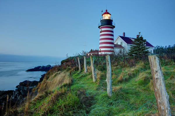 Photograph - West Quoddy Head Light by Joe Paul