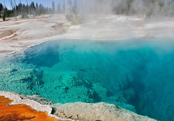 Photograph - West Thumb Geyser At Yellowstone by Ginger Wakem