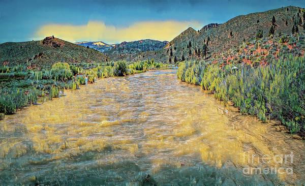 Digital Art - West Walker River by Joe Lach