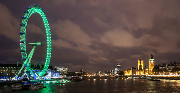 London Eye Photograph - Westminster And The London Eye by Dawn OConnor