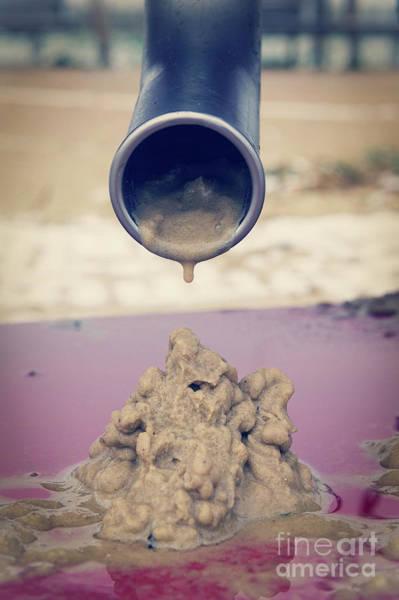 Wall Art - Photograph - Wet Sand Drain by Tom Gowanlock