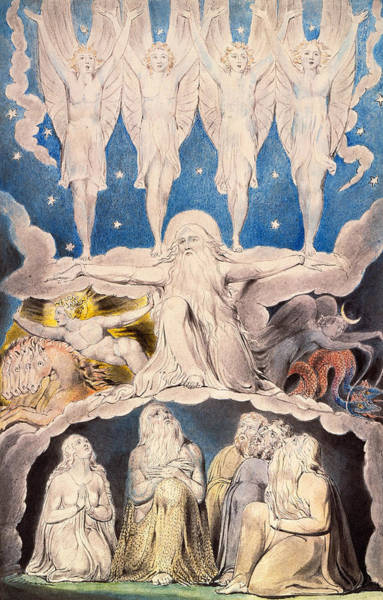 Painting - When The Morning Stars Sang Together by William Blake