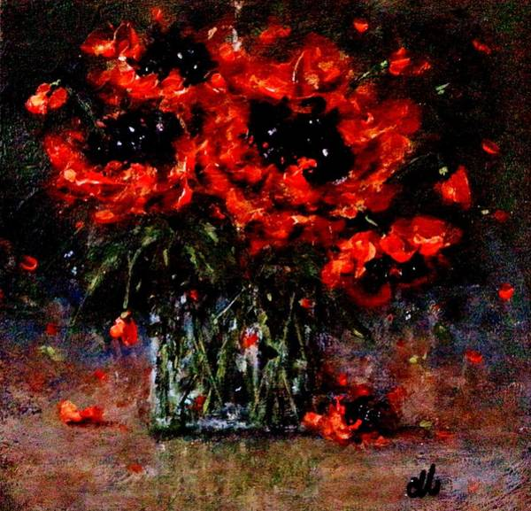 Poppie Painting - Whispers Of Love  by Cristina Mihailescu