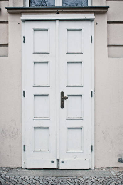 Old Wall Art - Photograph - White Door by Tom Gowanlock