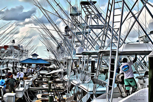 Grey Skies Wall Art - Photograph - White Marlin Open by Carey Chen
