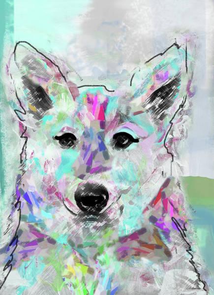 White Shepherd Art Print