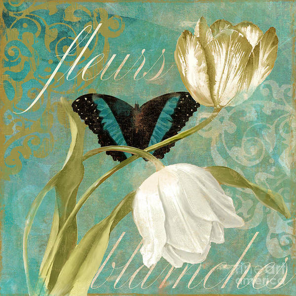 Wall Art - Painting - White Tulips by Mindy Sommers