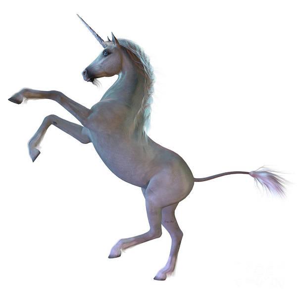 Unicorn Horn Digital Art - White Unicorn by Corey Ford