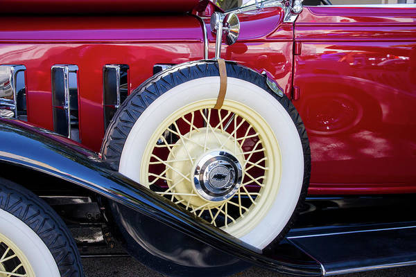 Photograph - Wide Whitewall Spare Tire by Arthur Dodd
