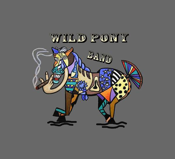 T-shirts Painting - Wild Pony by Anthony Falbo