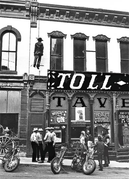 Photograph - William S. Hart Homage The Toll Gate 1920 Toll Gate Saloon Central City Co 1971 by David Lee Guss