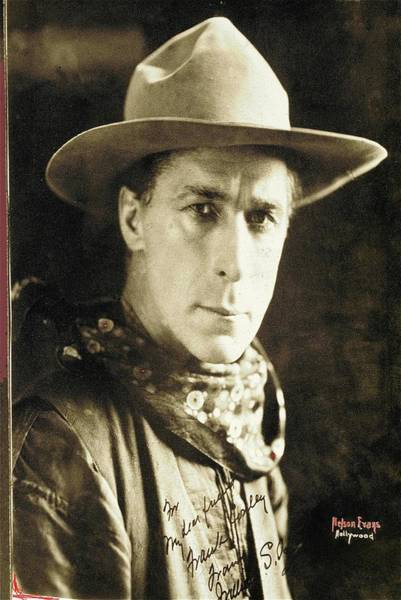Photograph - William S. Hart Portrait C.1918 Nelson Evans Photographer Virginia City Montana 1971-2008 by David Lee Guss