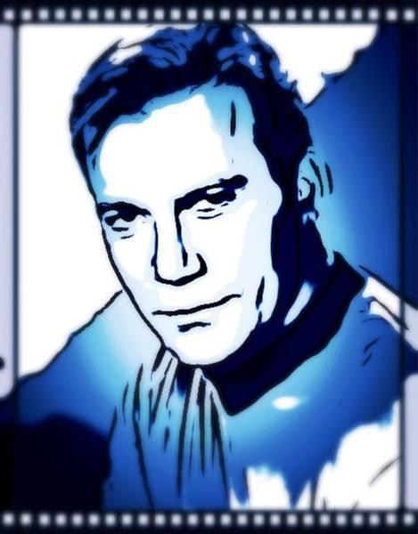 William Shatner As Captain Kirk Art Print