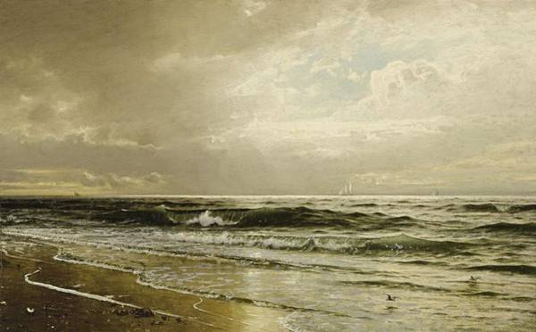 Painting - William Trost Richards 1833 - 1905 Afternoon, Long Beach, N.j. by Artistic Panda