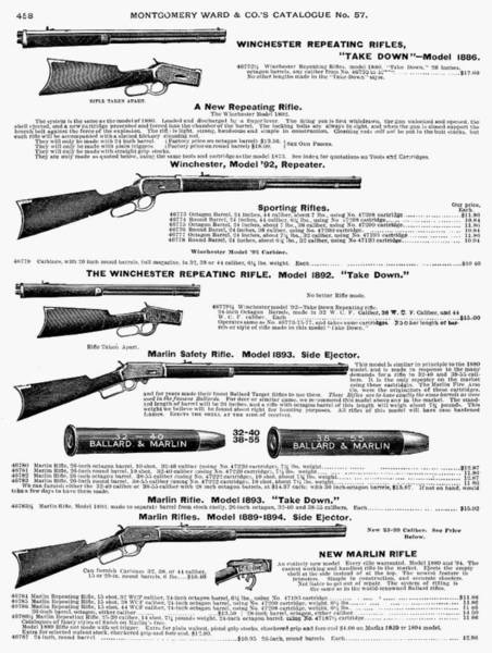 Catalog Photograph - Winchester Rifles by Granger