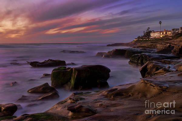 Photograph - Windansea Beach At Dusk by Eddie Yerkish