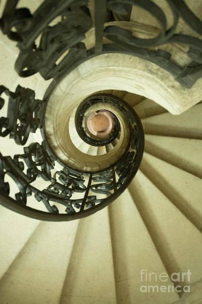Banister Wall Art - Photograph - Winding Staircase. France. Europe. by Bernard Jaubert