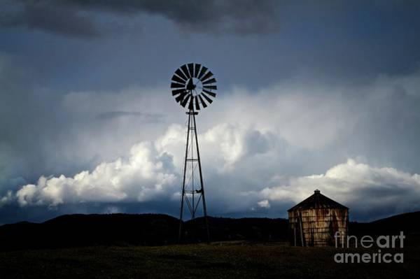 Stormcloud Photograph - Windmill And Tank  by Gus McCrea