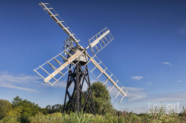 Norfolk Broads Wall Art - Photograph - Windmill by Colin and Linda McKie