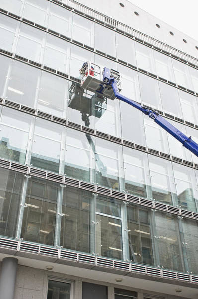 Capitalism Wall Art - Photograph - Window Cleaning by Tom Gowanlock