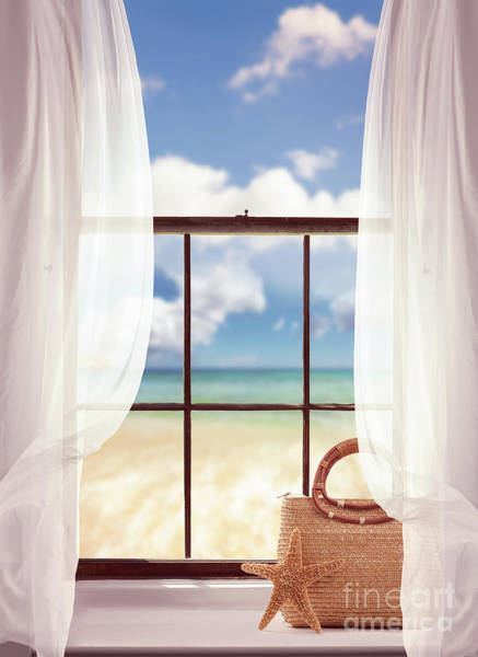 Ocean Breeze Photograph - Window Overlooking The Ocean by Amanda Elwell