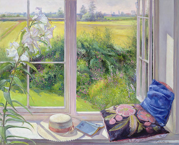 Window Seat And Lily Art Print