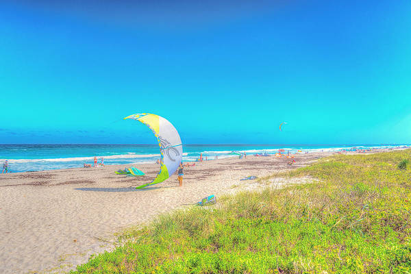Windsurf Beach Art Print