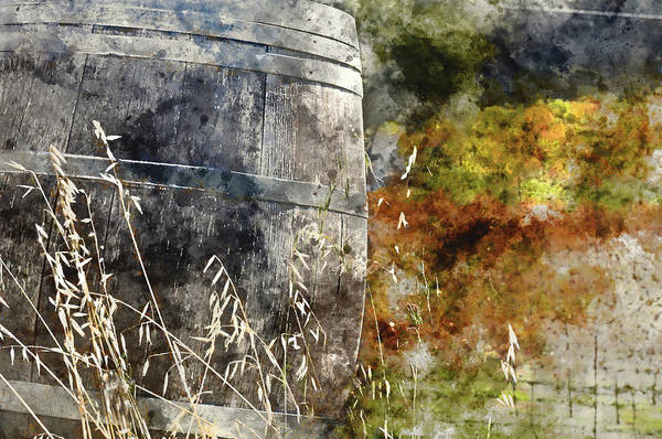 Digital Art - Wine Barrel In Autumn by Brandon Bourdages