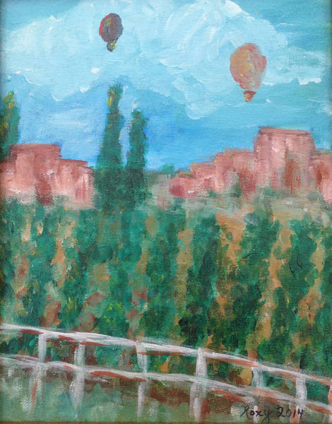 Landscape Painting - Wine Country by Roxy Rich