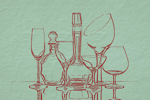 Wineglass Wall Art - Photograph - Wine Decanters With Glasses by Tom Mc Nemar