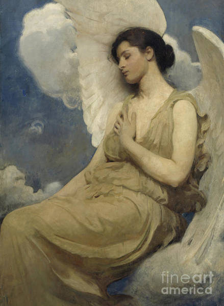 Virtue Painting - Winged Figure by Abbott Handerson Thayer