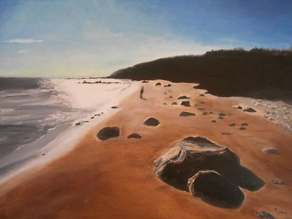 Desolation Painting - Winter Beach by Rauno  Joks