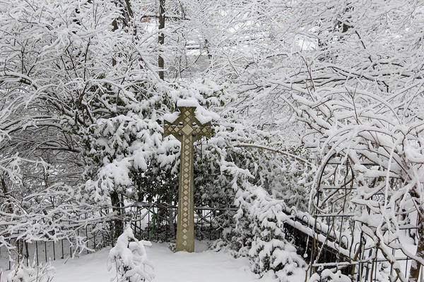 Wall Art - Photograph - Winter In Spring Celtic Cross by Keith Mucha
